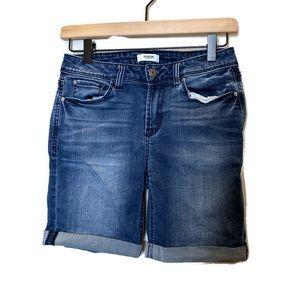 Kensie- Rolled hem jean shorts
